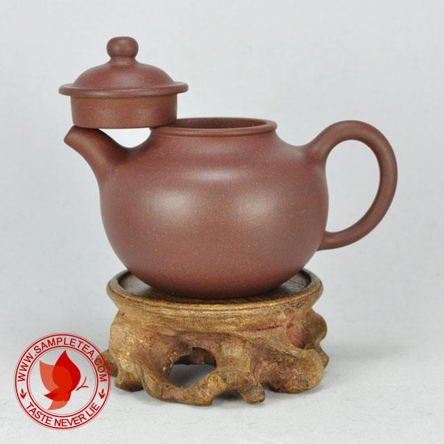chinese tea 1970's-1980's Yixing Factory 1 Di Cao Qing Lian Zi Hu Teapot Purplish, 100ml  @ www.sampletea.com