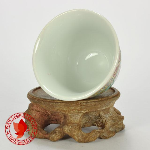 chinese tea 1970's-1980's Jingdezhen Wan Shou Wu Jiang Porcelain Teacup (Green), 60ml @ www.sampletea.com