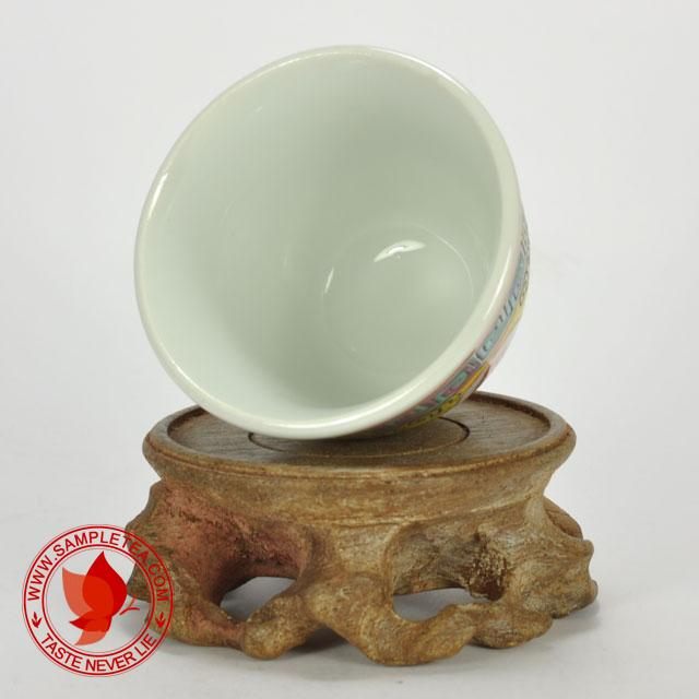 chinese tea 1970's-1980's Jingdezhen Wan Shou Wu Jiang Porcelain Teacup (Yellow), 60ml @ www.sampletea.com