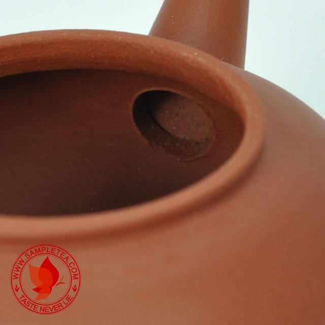 chinese tea 1980's Yixing Hong Ni Shui Ping Hu Teapot, 40ml @ www.sampletea.com