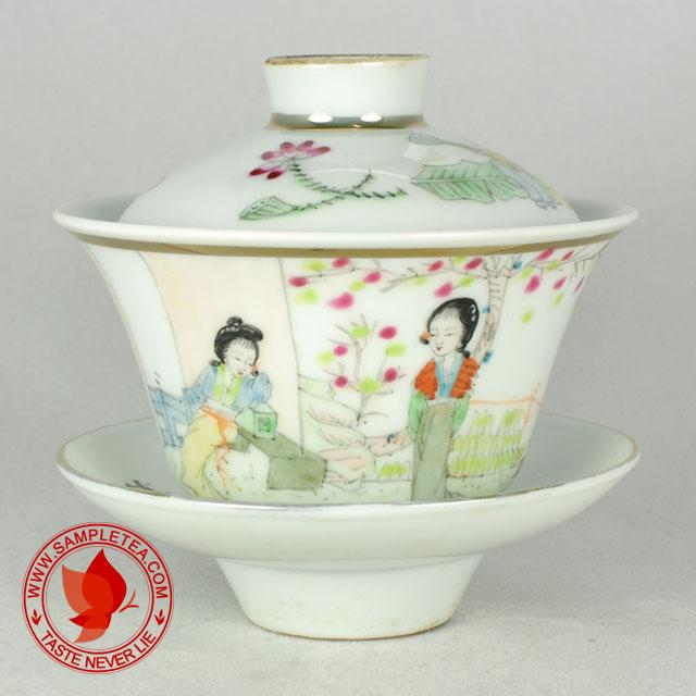chinese tea Jiangxi Porcelain Beauty Gaiwan @ www.sampletea.com