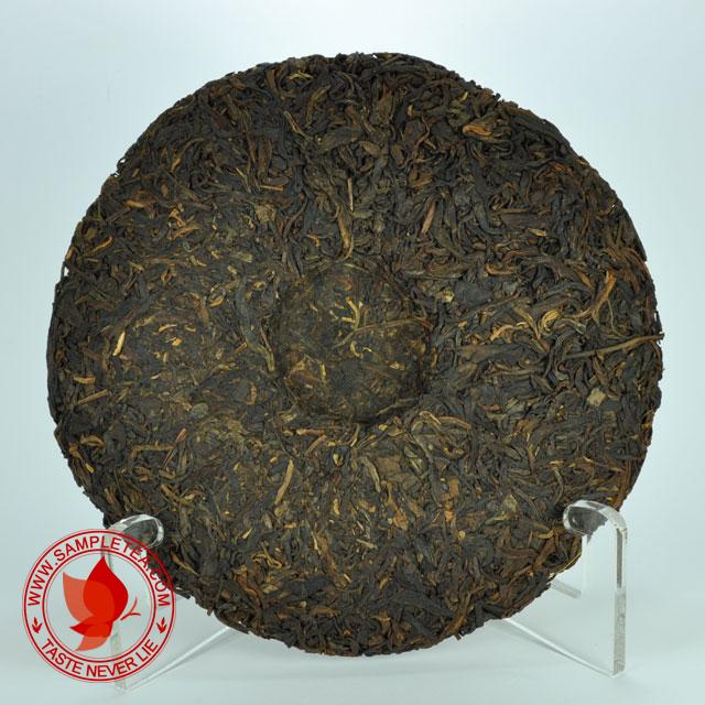 "chinese tea 2003 Dayi ""Jin Dayi"" Gold Dayi Tea Cake (301), Green @ www.sampletea.com"