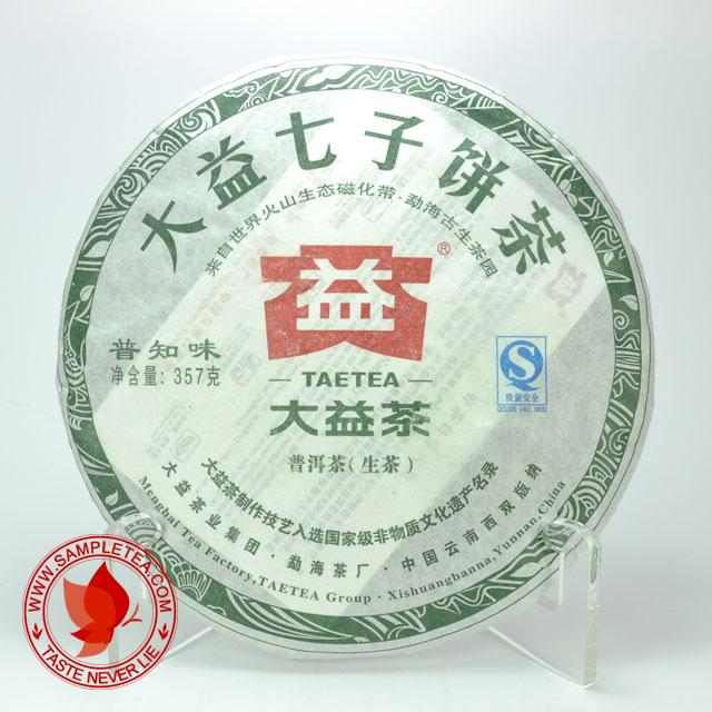 chinese tea 2011 Dayi Pu Zhi Wei Tea Cake (101), Green @ www.sampletea.com