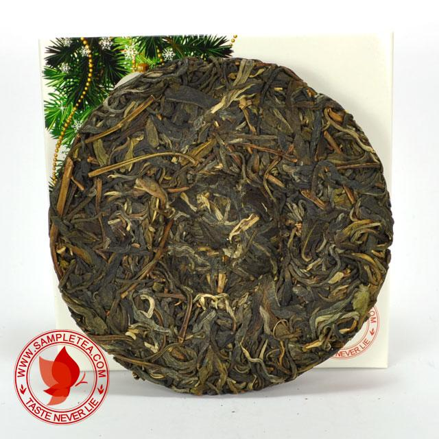 chinese tea 2012 PuDi Yiwu Man Xiu Ecological Arbor Tea Cake, Green @ www.sampletea.com
