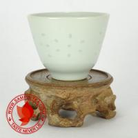 Chinese tea 1980's Bai Yu Mei Tong Bei White Porcelain Teacup, 60ml