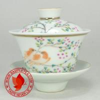 Chinese tea Jiangxi Porcelain Bird Gaiwan